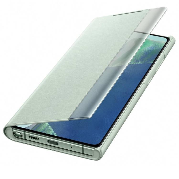 Etui Samsung Smart CLEAR View Cover Zielony do Galaxy Note 20 (EF-ZN980CMEGEU)